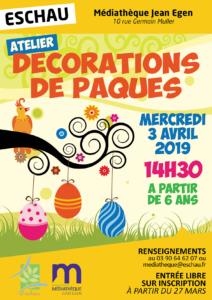Atelier de création de décorations de Pâques @ Médiathèque Jean Egen