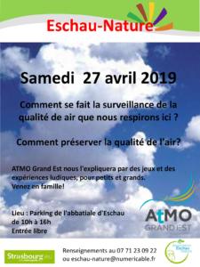 Sensibilisation à pollution atmosphérique par l'association ATMO Grand Est @ Parking de l'Abbatiale St-Trophime